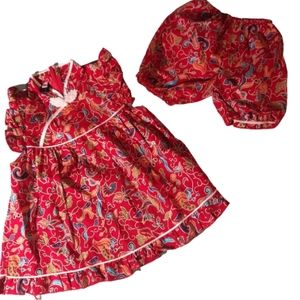 Other - New red Japanese Singapore girls dress outfit 2T